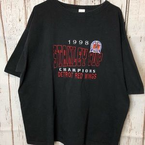 Logo 7 Red Wings 1998 Stanley Cup 2XL
